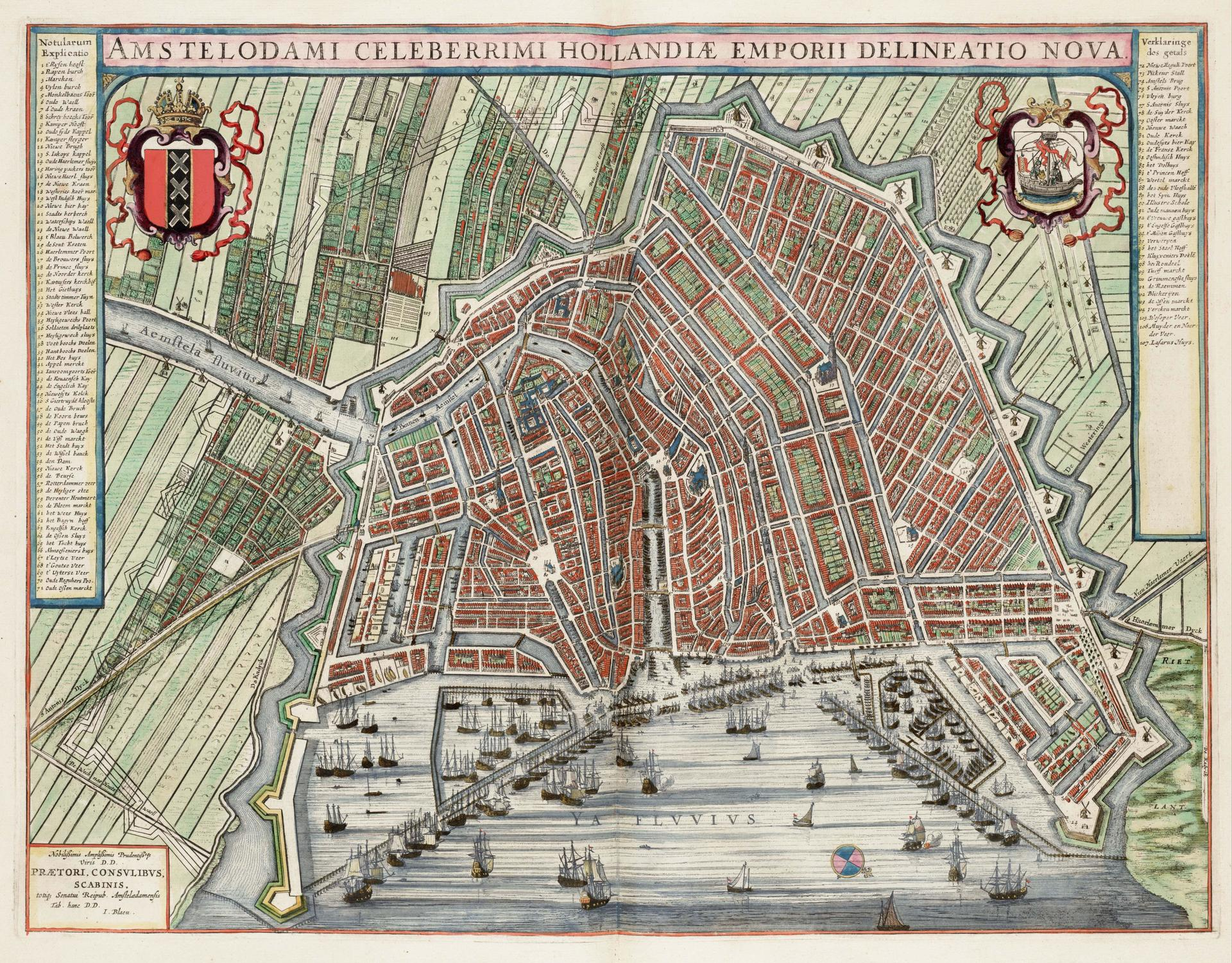 History Trips The Jordaan District Thth Century - Amsterdam old map