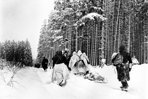 American troops during the Battle of the Bulge